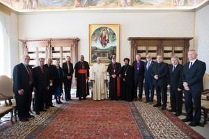 Le pape François appelle à marcher main dans la main avec l'ABU