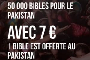 Ensemble, offrons 50 000 Bibles pour le Pakistan