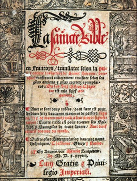 La première Bible en français