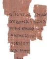 Le plus ancien fragment de manuscrit du Nouveau testament sur du Papyrus